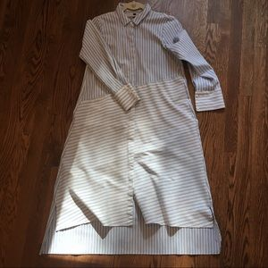 Zara TRF Collection Striped Shirt Dress